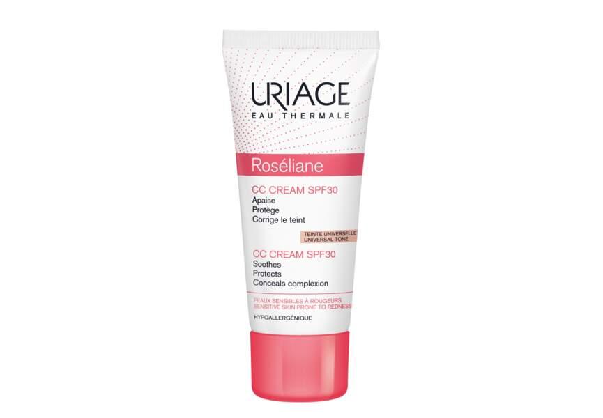 La CC crème SPF 30 Roséliane Uriage