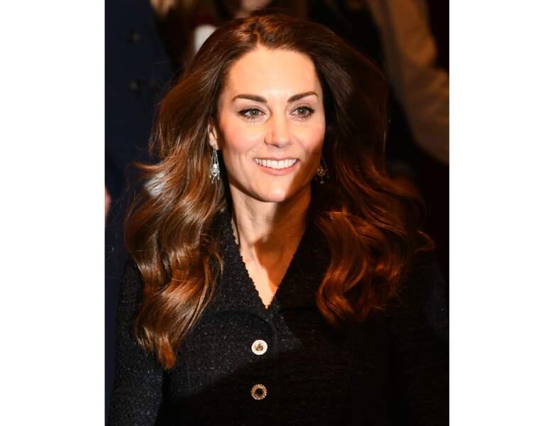 Cheveux châtains : le châtain aux reflets chauds de Kate Middleton