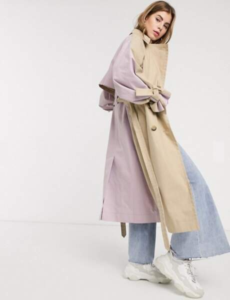 Tendance trench : color block