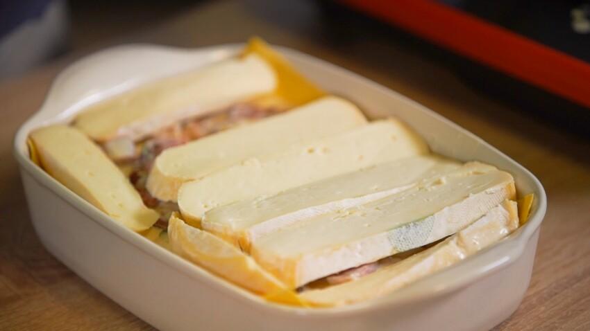 Lasagnes gratinées au reblochon : la recette en vidéo