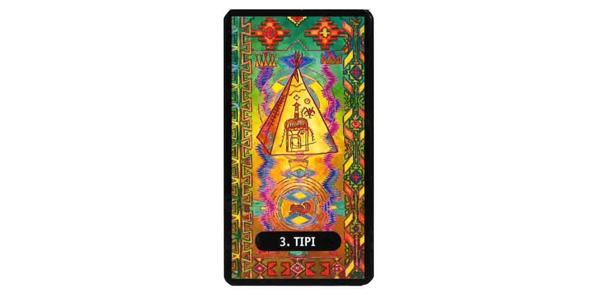 Tarot des chamans indiens : le tipi
