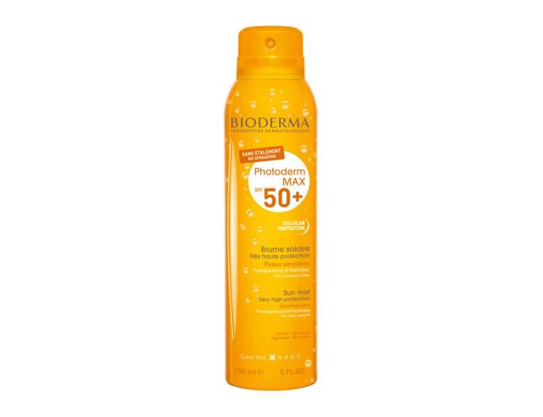 Crème solaire : la brume solaire de Bioderma