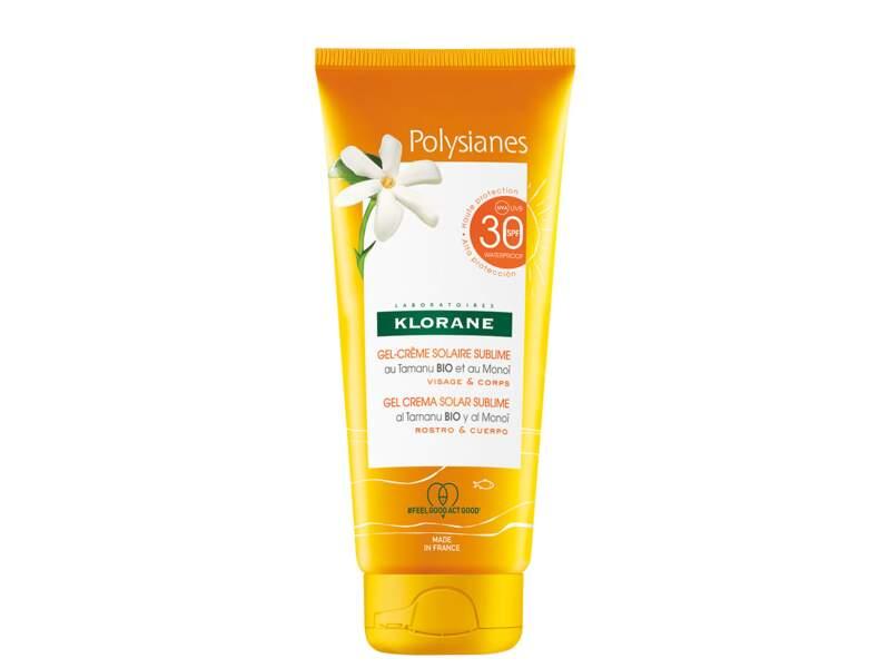 Crème solaire : un gel crème protecteur signé Klorane