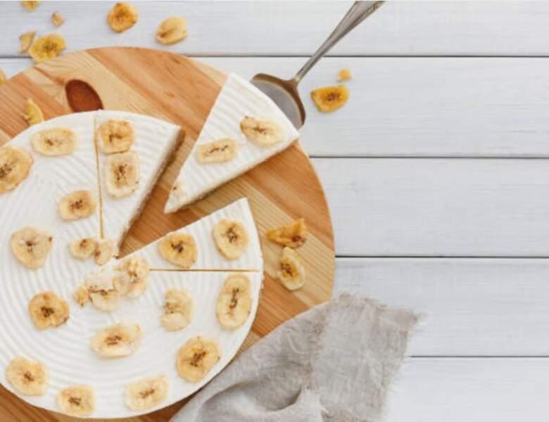 Gâteau ultra rapide au caramel banane et chocolat blanc sans cuisson