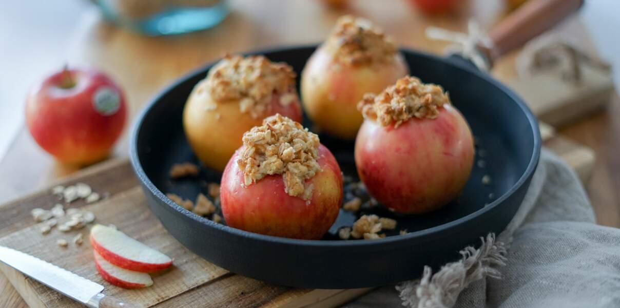 Pommes Antarès® rôties et son crumble miel-avoine