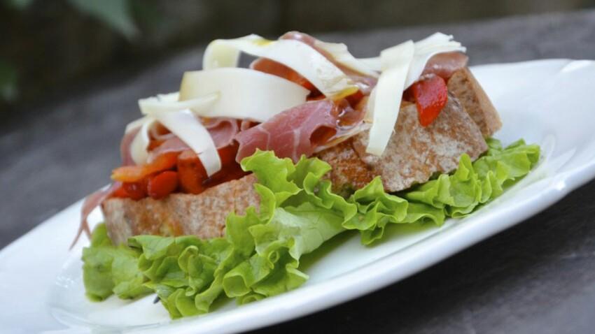 Tartines basques au jambon de Bayonne et à l'AOP Ossau-Iraty