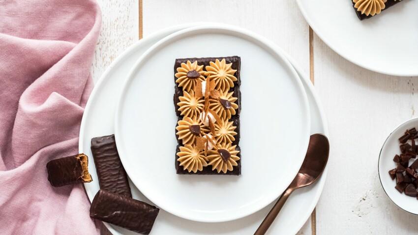 Tartelettes crêpes dentelle chocolat noir et crémeux caramel beurre salé