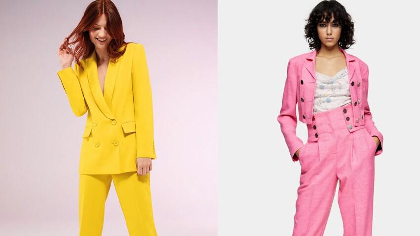 Tailleur-pantalon tendance : rouge, rose, vert, jaune... les plus beaux ensembles colorés de l'été !