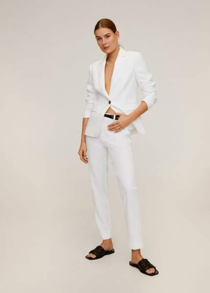 Total look blanc : l'ensemble blazer