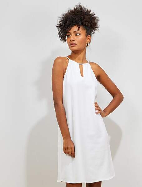Total look blanc :  la jolie robe courte