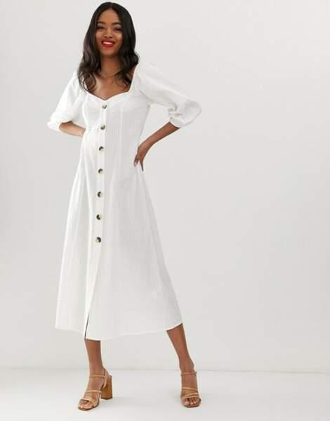 Total look blanc : la robe longue