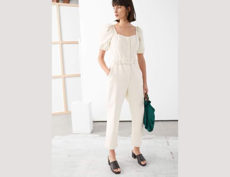 Total look blanc : la combinaison pantalon