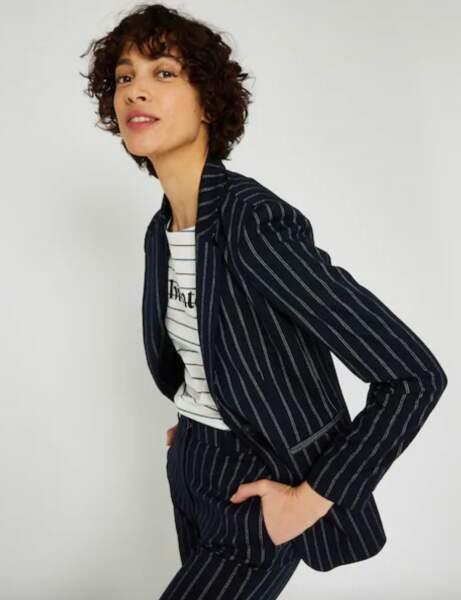 Blazer tendance : la veste à rayures