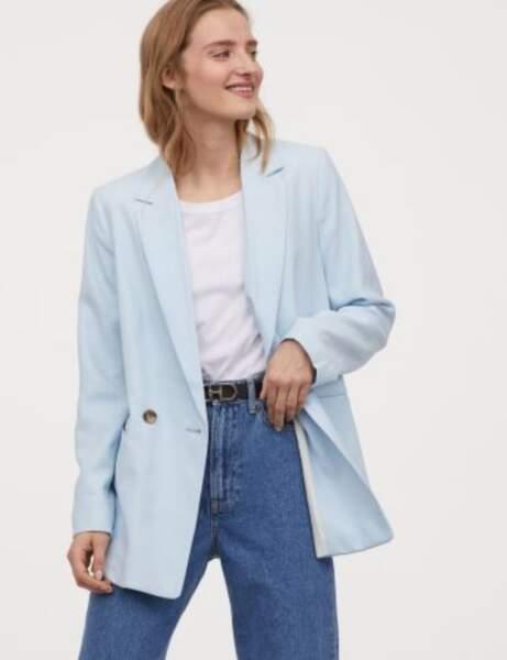 Blazer tendance : le blazer pastel baby blue