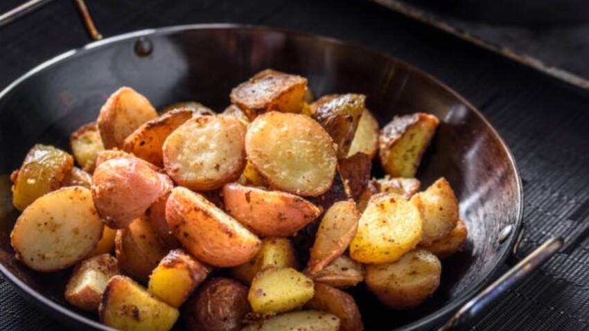 Pommes de terre grenaille sautées au curry