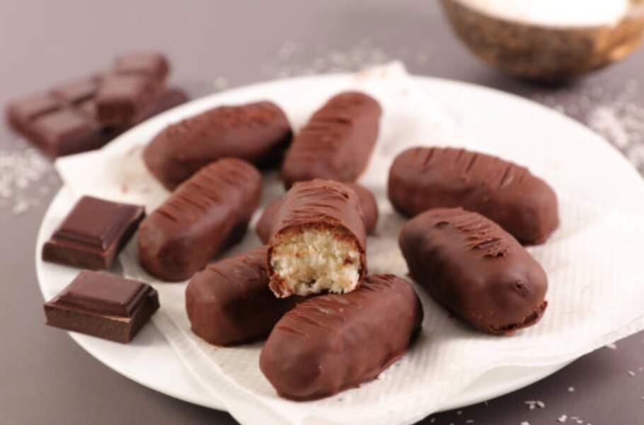Barres chocolatées à la noix de coco façon Bounty®