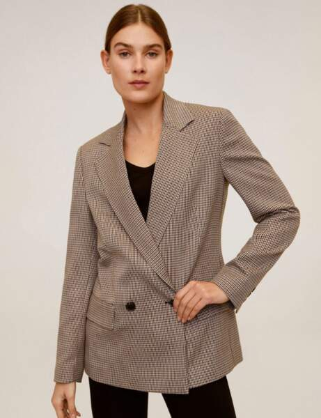 Blazer tendance : le blazer à petits carreaux oversize