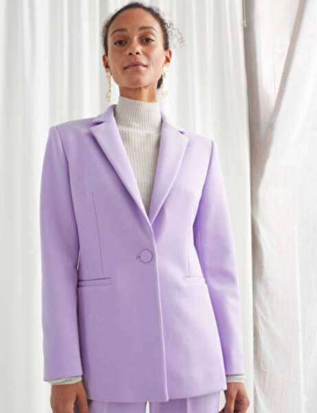 Blazer tendance : la veste lilas