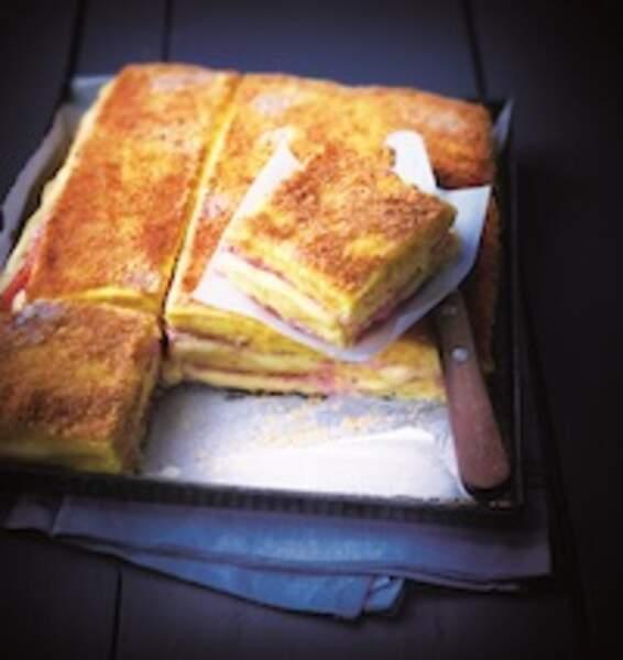 Croque-monsieur polenta jambon d'Eric Frechon
