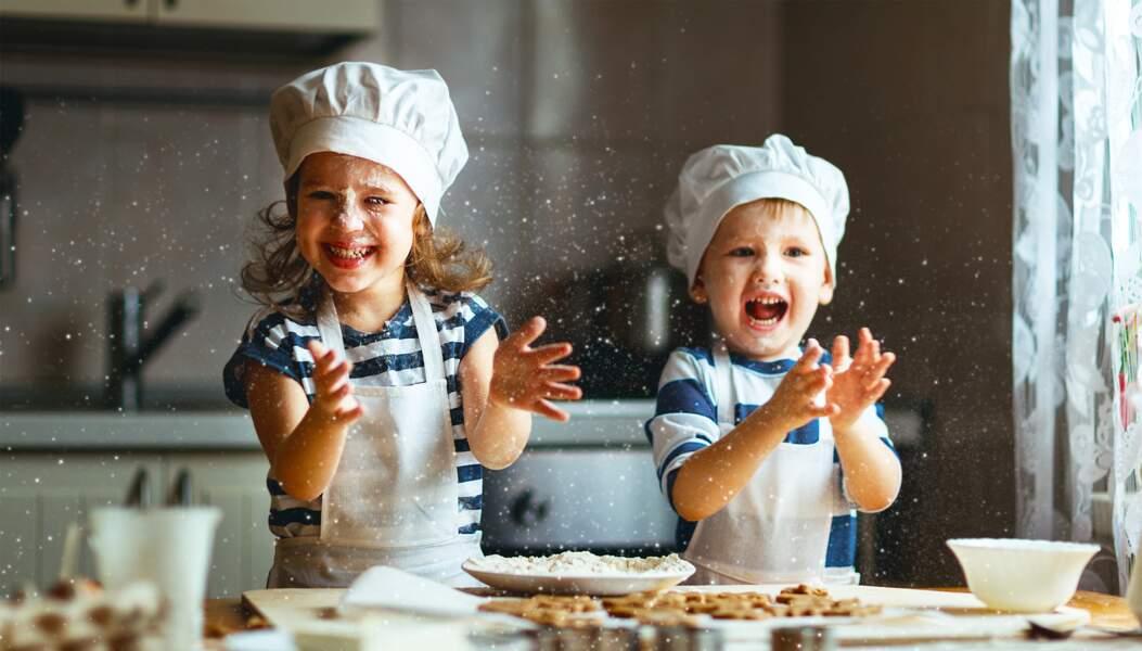 Préparer des cookies pour le goûter