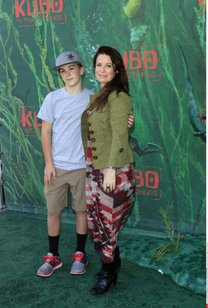 Holly Marie Combs et son fils aîné Finley en 2016