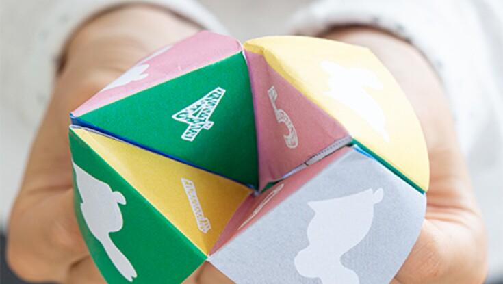 Pliage de papier : une cocotte de Pâques pour jouer avec les enfants