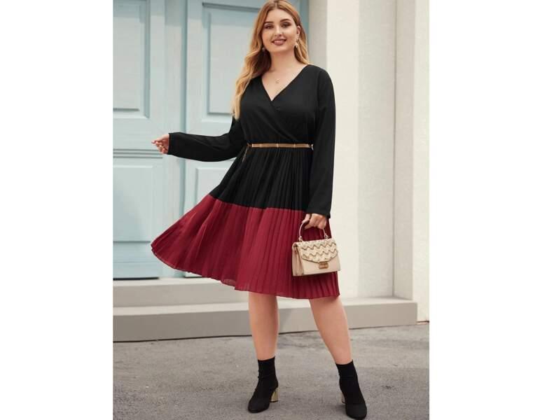 Mode ronde : la robe bicolore