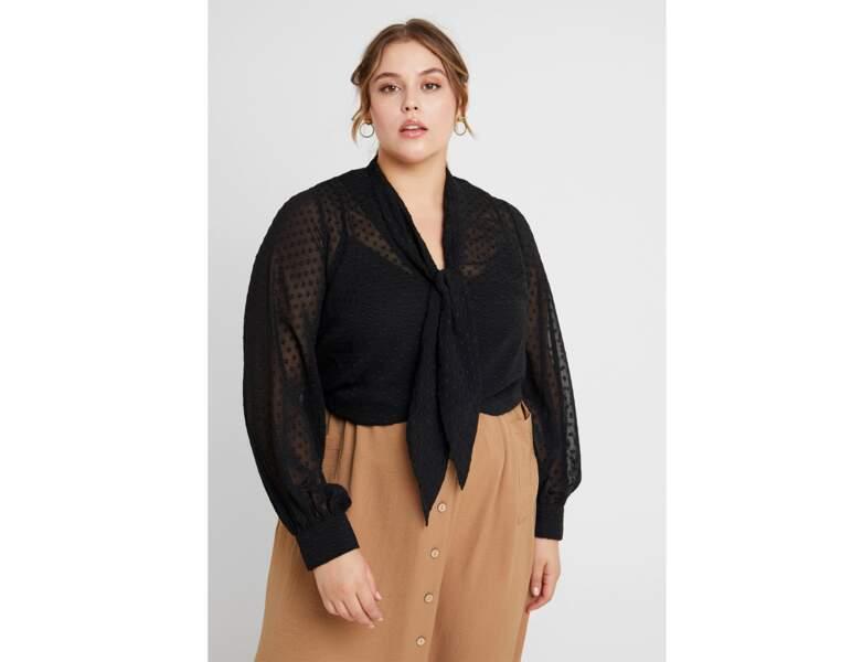 Mode ronde : la blouse col lavallière