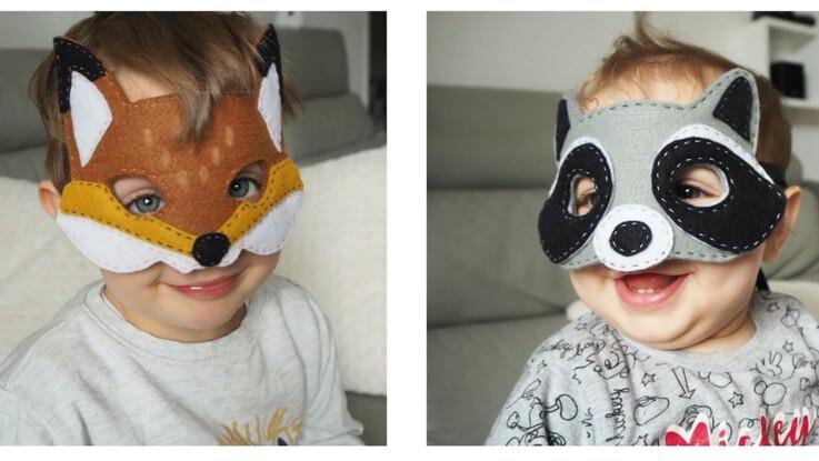 Couture facile : 2 masques animaux à faire avec les enfants