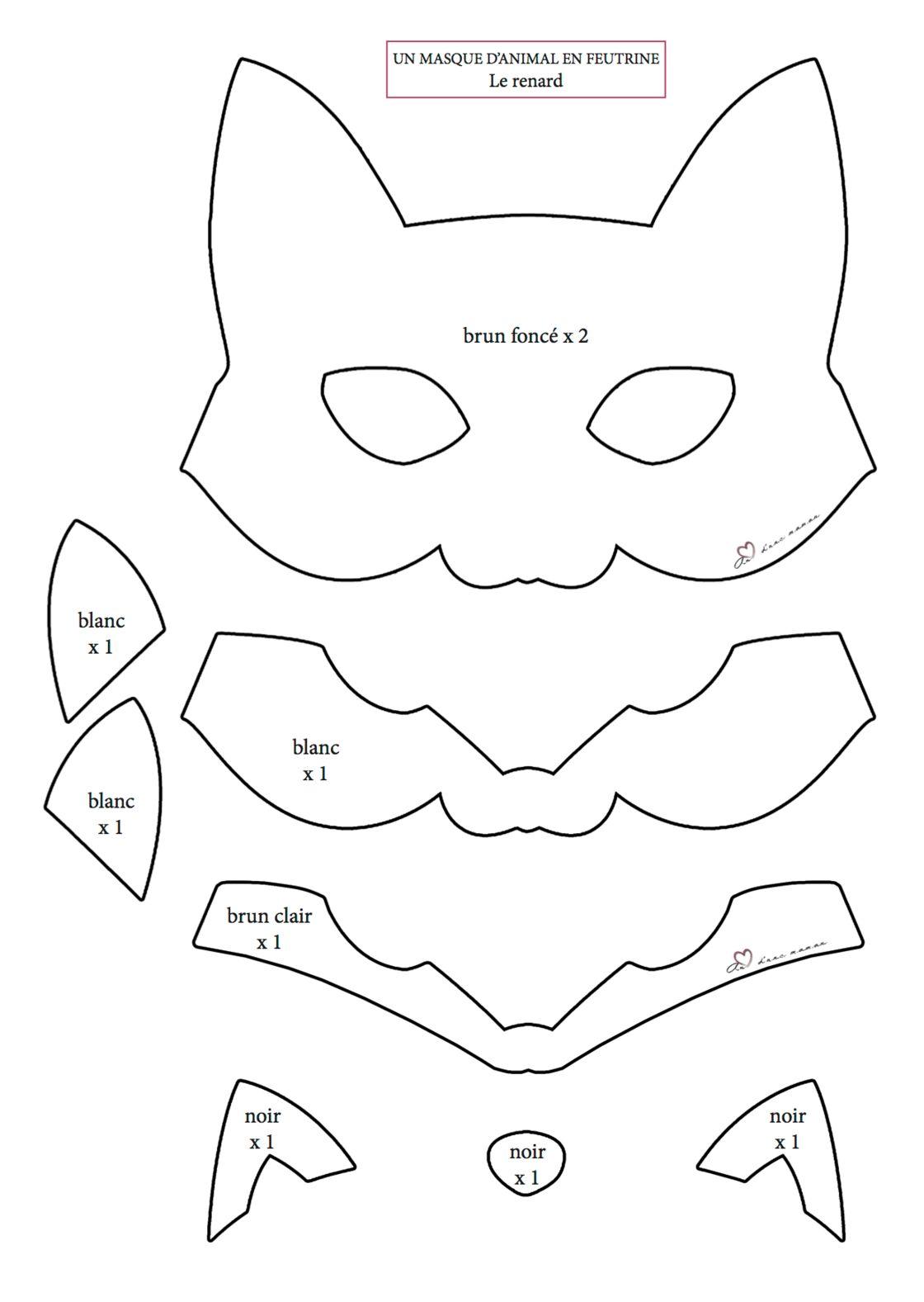 Couture Facile 2 Masques Animaux A Faire Avec Les Enfants Femme Actuelle Le Mag