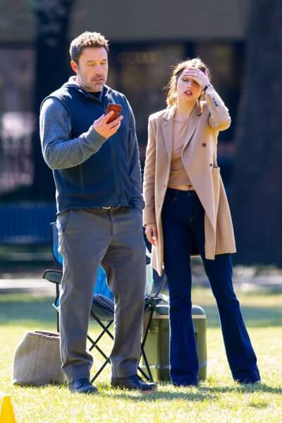 Ben Affleck et Ana de Armas se sont montrés très complices sur le tournage du film, le 13 novembre 2019