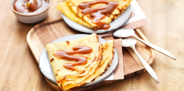 Crêpes sans gluten, caramel au beurre salé