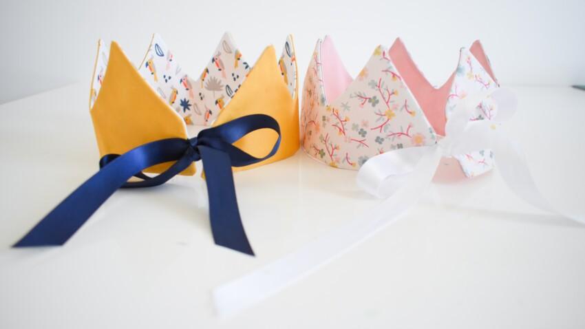 DIY facile : coudre une couronne de princesse