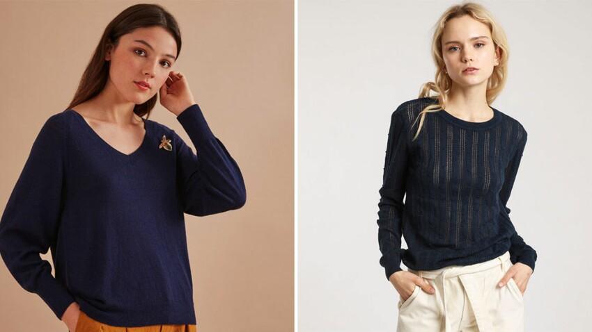 Pull bleu marine : nos conseils pour bien choisir cet indispensable élégant et tendance