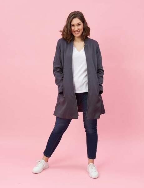 Mode ronde : le manteau zippé