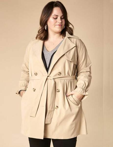 Mode ronde : le trench court