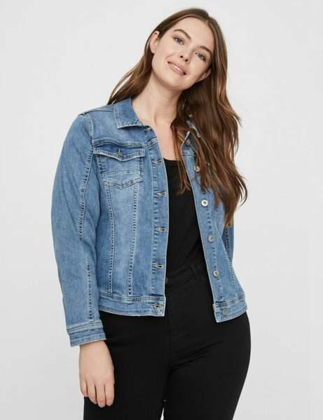 Mode ronde : la veste en jean