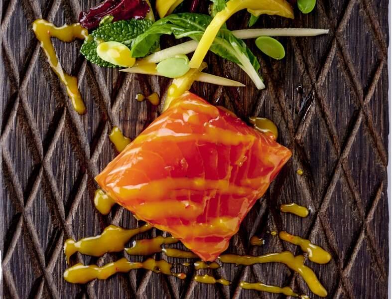 Salade de saumon thaï