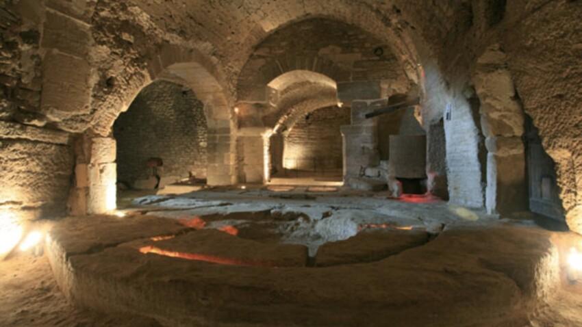 Zoom sur les caves en 3D de Saint-Firmin