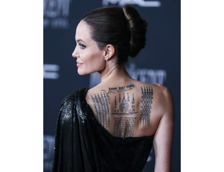 Tatouage de star : Angelina Jolie