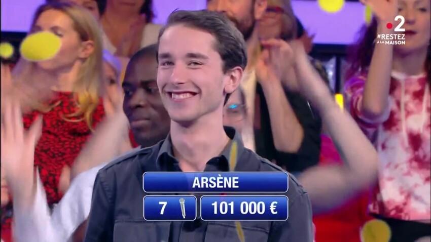 """Arsène (""""N'oubliez pas les paroles"""") : 101.000 euros de gains, le maestro impressionne les internautes"""