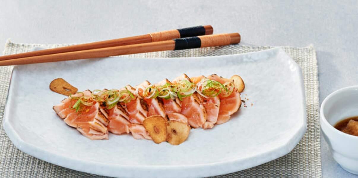 Steaks de tartare de saumon et ponzu