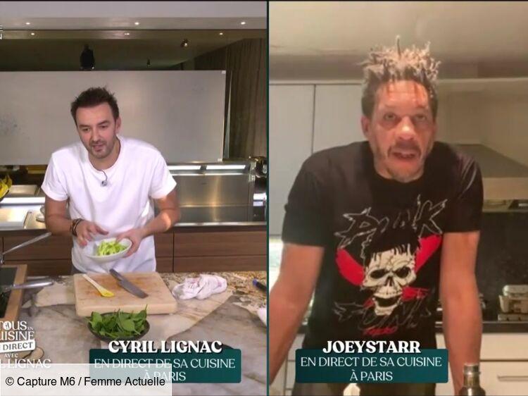 """""""Tous en cuisine"""" : JoeyStarr perdu pendant la recette, il s'en prend à Cyril Lignac"""