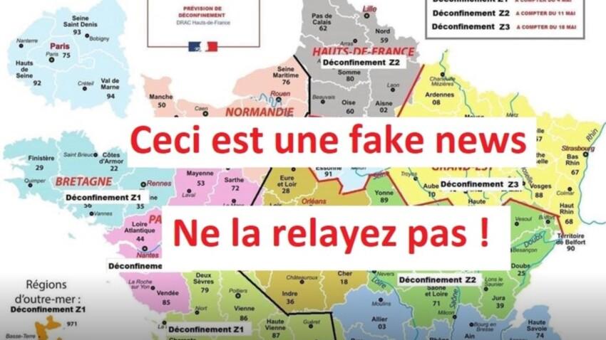 Fin du confinement : une fausse carte des régions circule, méfiez-vous !
