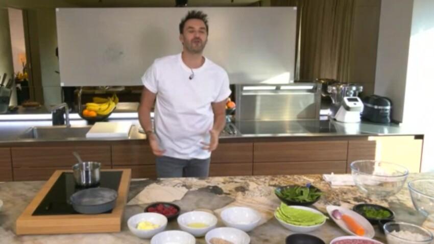 """""""Tous en cuisine"""" : la recette de la crème dessert au chocolat et framboises à l'anis de Cyril Lignac"""