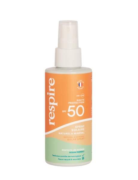 Crème solaire :un spray solaire respectueux de l'environnement signé Respire