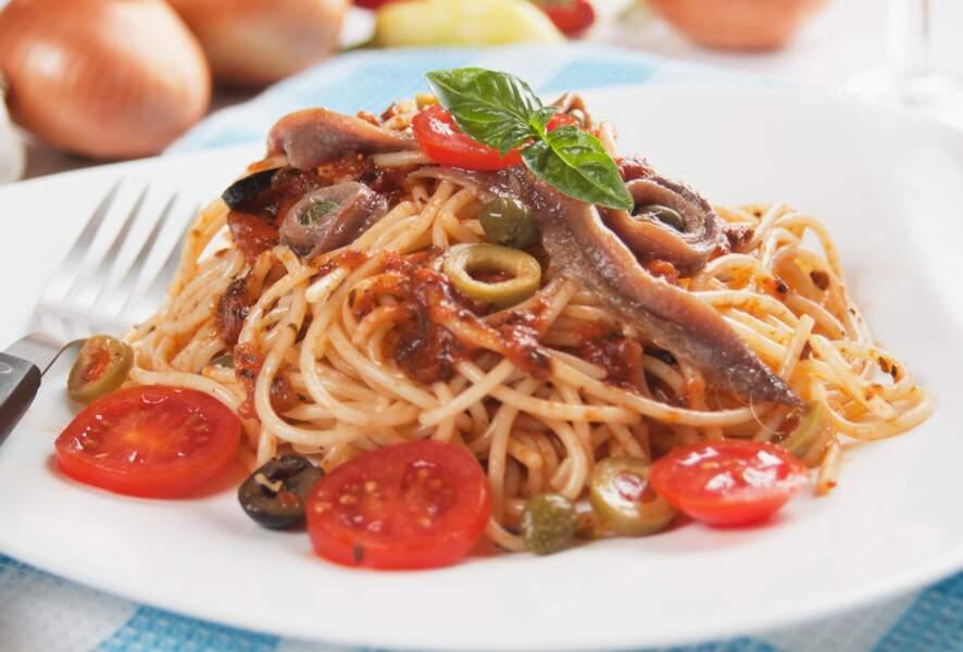 Spaghetti sauce anchois