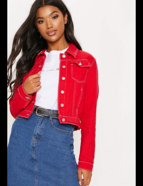 Veste en jean : flashy