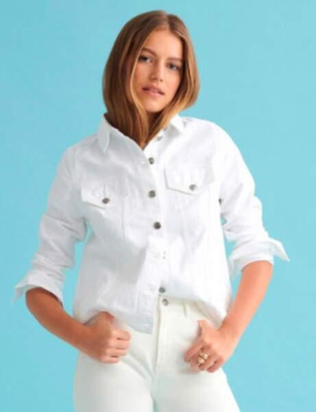 Veste en jean : estivale