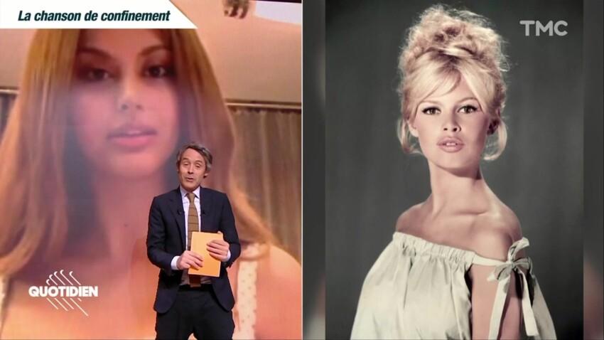 """Zahia Dehar fait passer un message à Brigitte Bardot dans """"Quotidien"""""""